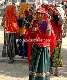 rajastan women with odhana