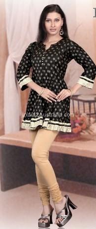 short kurti with churidar pyjama