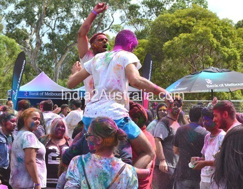 Holi at Bundoora Park 2014