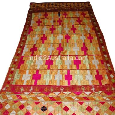 Phulkani embroidered shawl