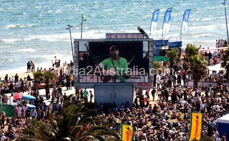 Archie Roach performs at the St Kilda Festival last year.