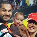 Shikhar Dhawan with wife Ayesha and son Zoravar