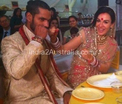 Shikar Dawan marriage photo2