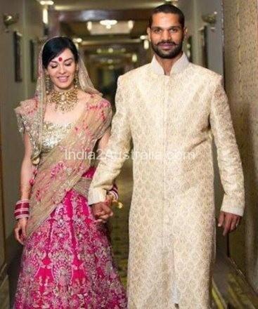 Dhawan and Ayesha marriage photo