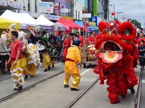 Vietnam newyear procession