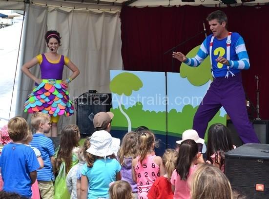Children's program at St Kilda Festival