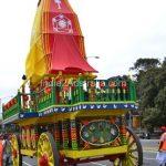 Hare Krishna's chariot at St Kilda Festival