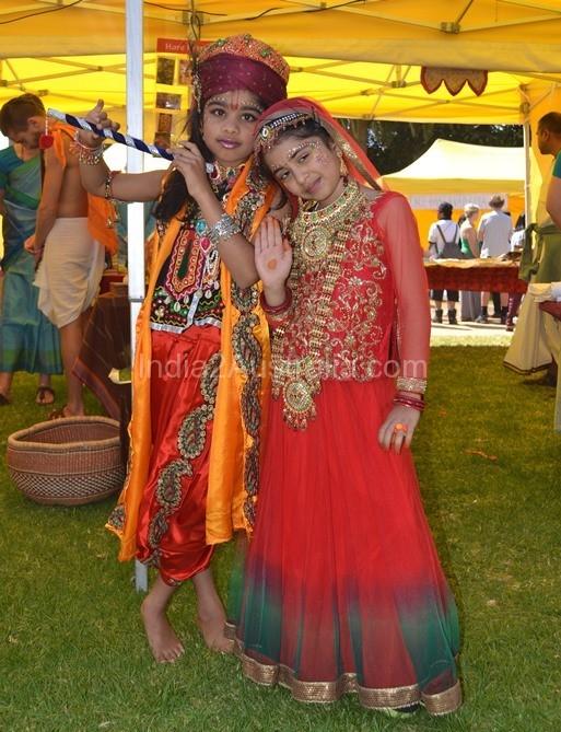 Indian Children (Radha and Krishna ) at St Kilda Festival
