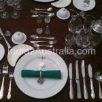 8 course dinner formal place setting