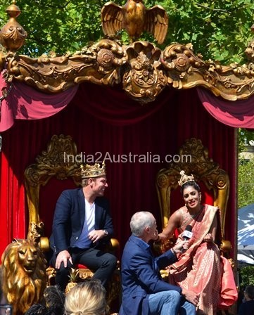 Moomba king and queen