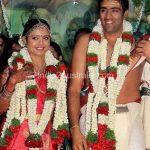 Ravichandran Aswin with wife Prithi Narayan