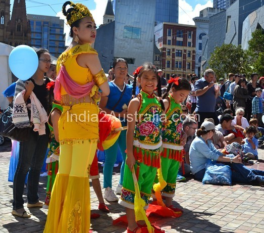 outside fed square chinese newyear
