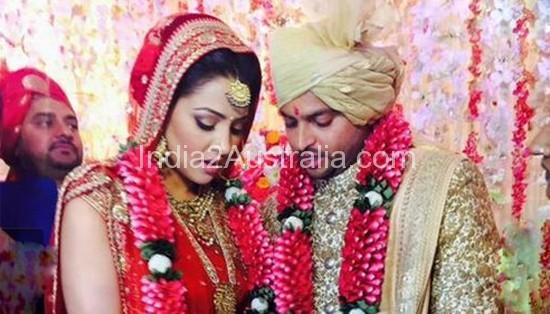 Suresh Raina and Priyanka Chaudhari Marriage Photo