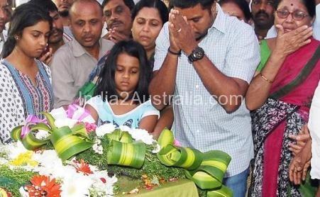 Prabha Arun Kumar's family farewell her