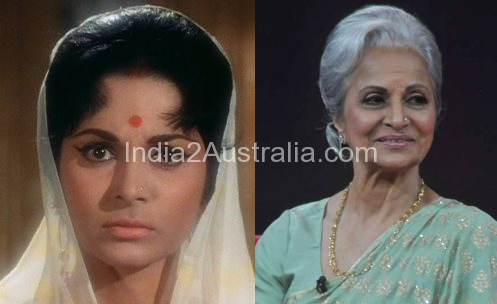 Vaheeda Rehman Then and now