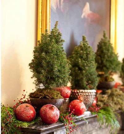 Fire place Christmas decoration 2-4