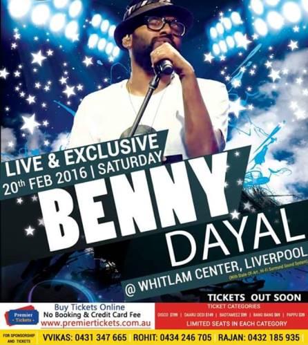 BENNY DAYAL LIVE IN SYDNEY