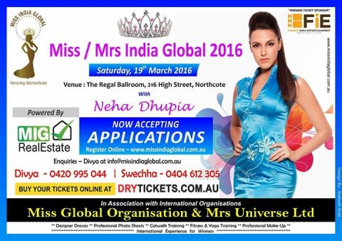 Miss/ Mrs India Global 2016