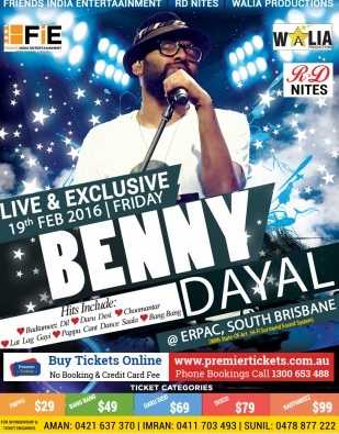 Benny Dayal in Brisbane