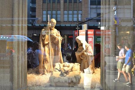 Christmas myer window