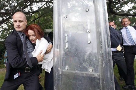 JULIA GILLARd RESCUED