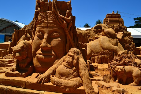 Sand Sculptures at Frankston, Melbourne