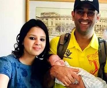 M.S Dhoni Family Photo