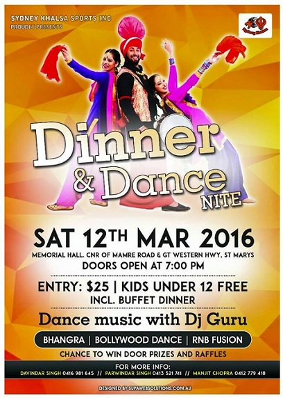 Sydney Khalsa dinner and dance
