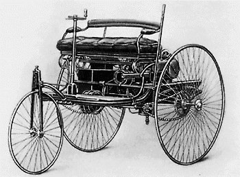 first patented benz car