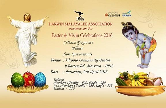 darwin Malayali association easter vishu celebrations