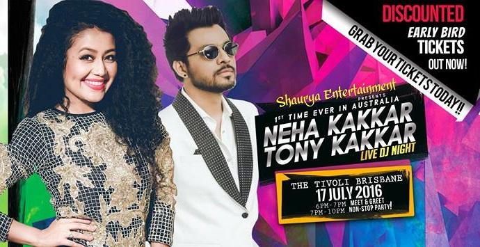 Neha kakkar in Melbourne and Brisbane