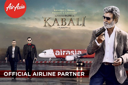 air asia partenr for kabali
