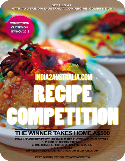 India2Australia Recipe Competition