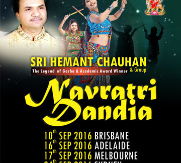 Hemant Chauhan Navratri Dandia 2016 in Melbourne, Sydney, Perth and Adelaide