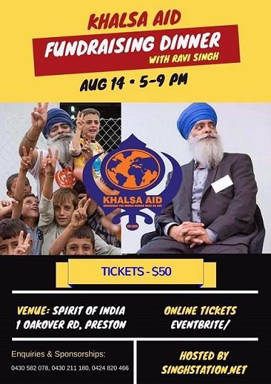 Ravi Singh Khalsa Aid meet and greet in Melbourne
