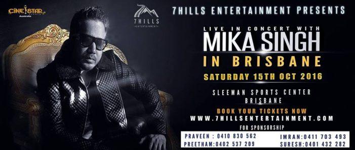 Mika Singh Live in Brisbane 2016
