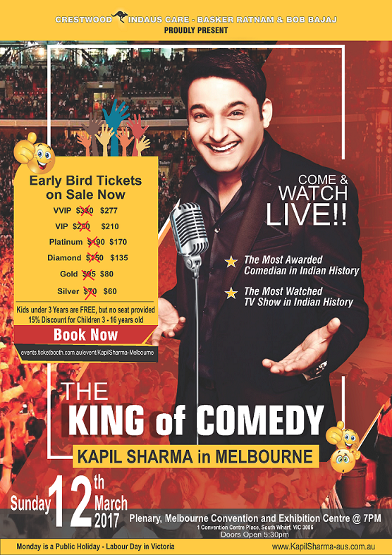 Kapil Sharma Comedy Night in Melbourne and Sydney