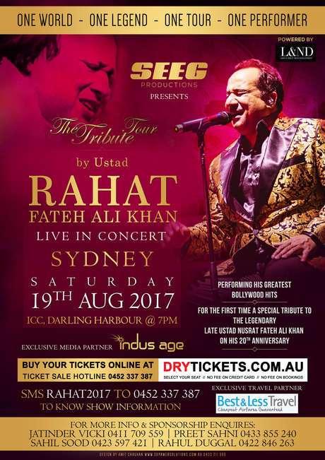 Rahat Fateh Ali Khan's Concert in Melbourne,Brisbane and Sydney