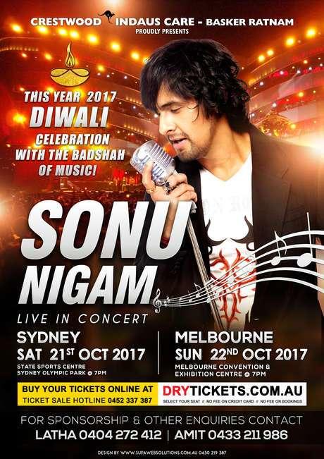 Sonu Nigam Live concert in Sydney and Melbourne