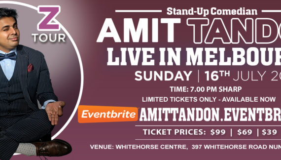 Amit Tandon Live in Melbourne, Sydney, Canberra and Adelaide