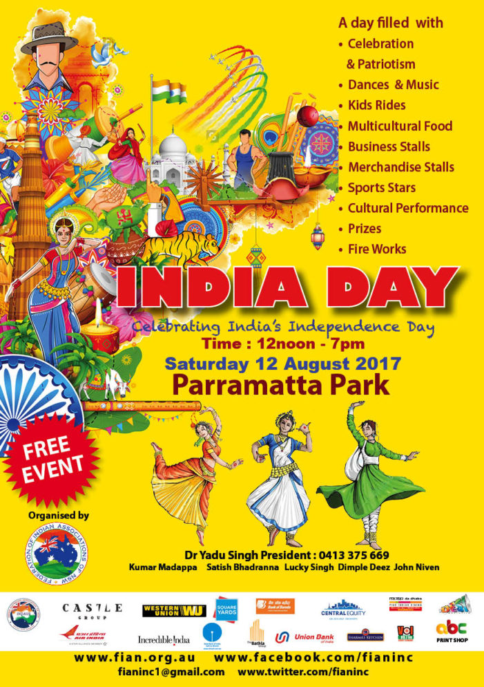 Indian Independence Day Celebrations in Australia (Melbourne, Sydney, Perth and Adelaide)