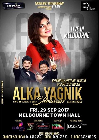 Alka Yagnik Live Concert in Sydney, Melbourne, Brisbane and Perth