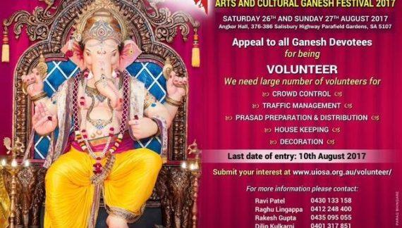Ganesh Festival 2017 in Adelaide