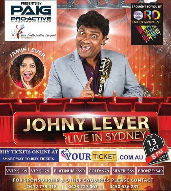 Johny Lever in Sydney, Adelaide and Brisbane 2017