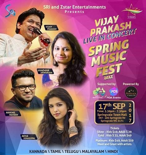 Vijay Prakash Music Fest in Melbourne