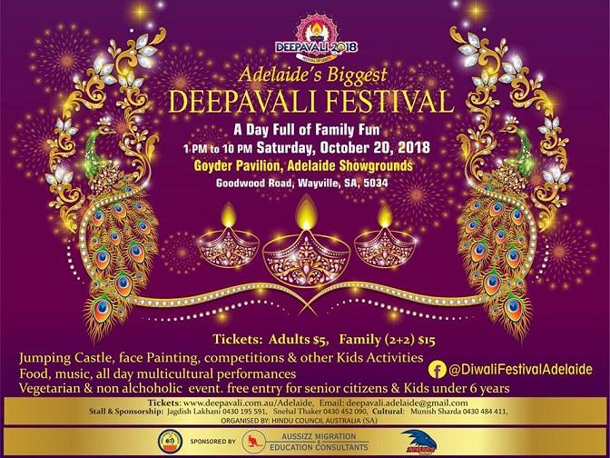 Diwali Celebrations in Adelaide 2018