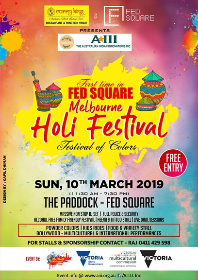 Holi Celebrations in Melbourne 2019