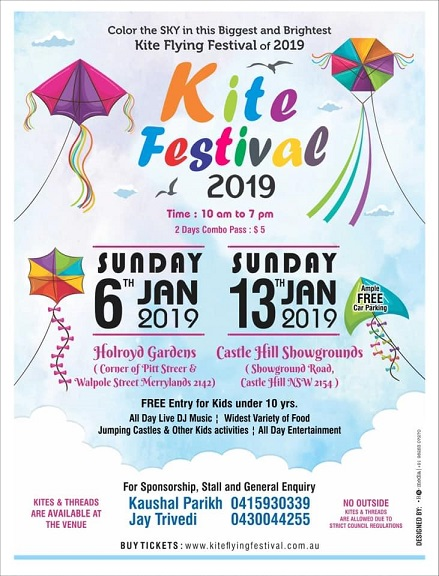 Indian Kite Flying Festivals in Australia 2019 (Melbourne, Sydney and Perth)