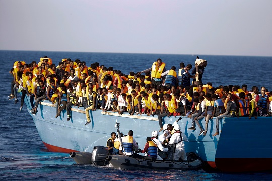 Refugee boat heading for Australia from Kerala in India