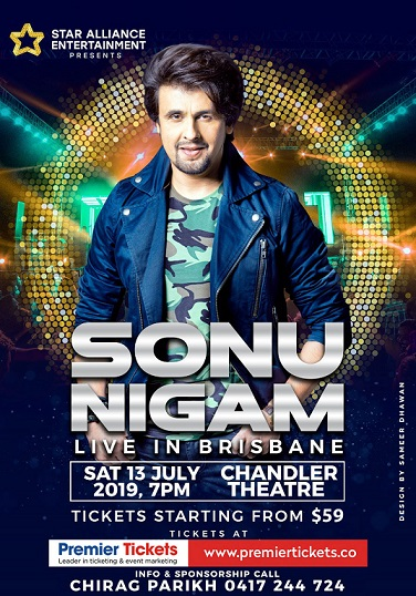 Sonu Nigam Concert 2019 in Sydney and Brisbane